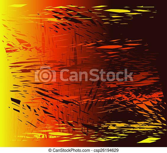 Broken glass dark orange background - csp26194629