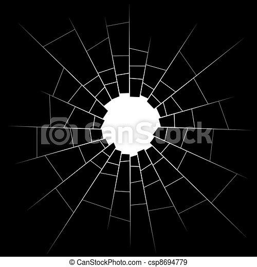 broken glass - csp8694779