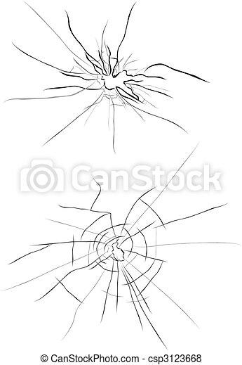 Broken glass - csp3123668
