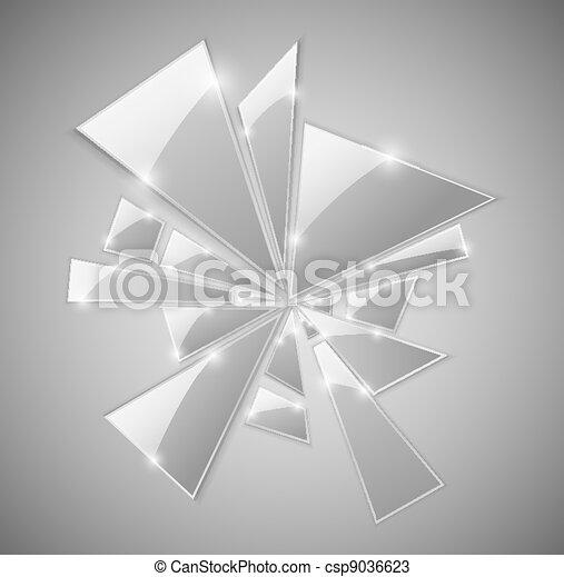 Broken glass - csp9036623