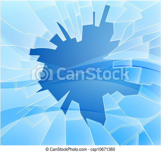 Broken glass illustration - csp10671360