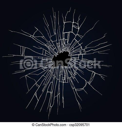 Broken glass illustration - csp32095701