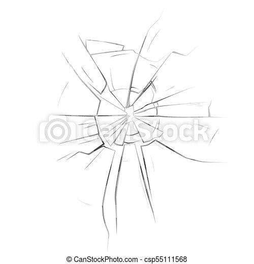 Broken glassware window or damaged screen. Mirror or broken glass ...