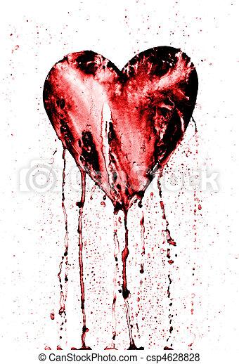 Broken Heart Bleeding Heart Detail Of The Painted Heart Symbol