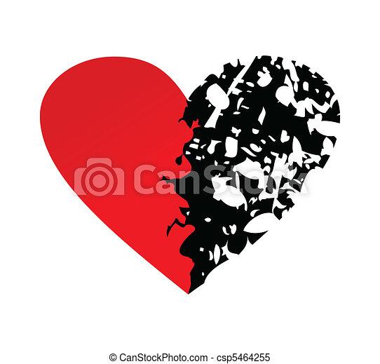 Broken heart - csp5464255