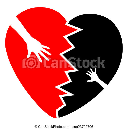 Broken Heart Concept Sign And Symbol For The Grief About The Death