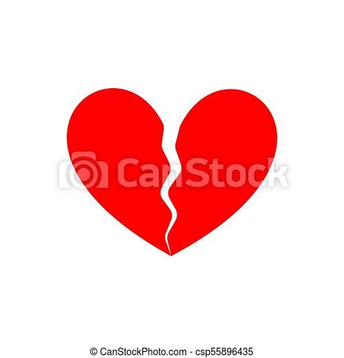 Broken Heart End Of Love Symbol Of Parting