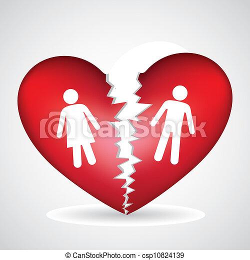 broken heart - csp10824139