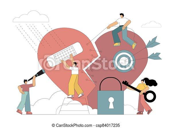 Broken heart - csp84017235