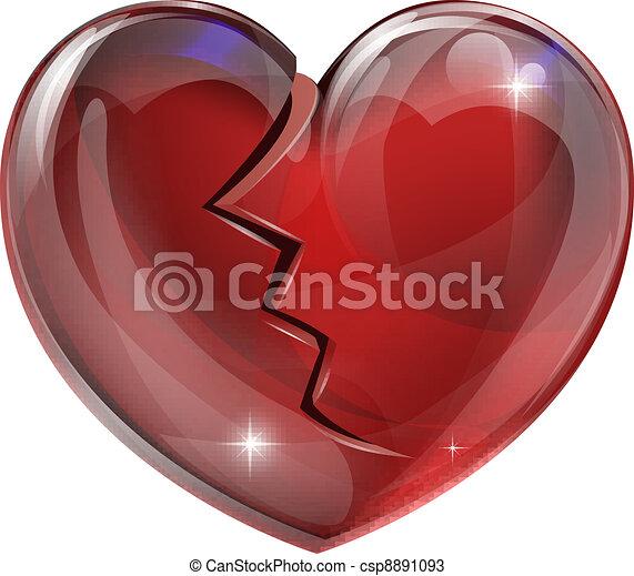Broken heart  - csp8891093