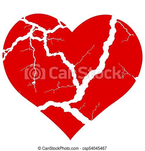broken heart icon illustration of the concept broken heart symbol