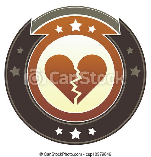 Broken heart imperial crest - csp10379846