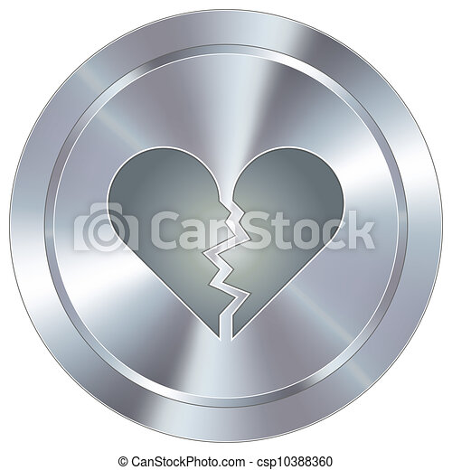 Broken heart industrial button - csp10388360