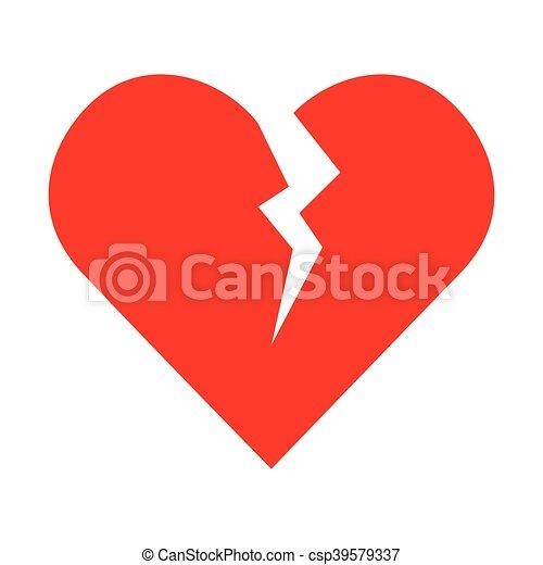 broken heart love - csp39579337