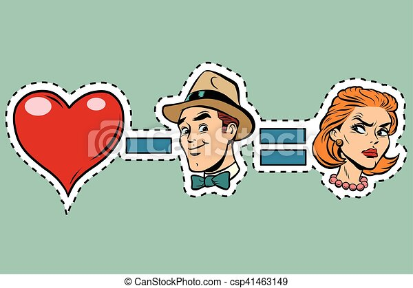 Broken heart minus man equals angry woman - csp41463149