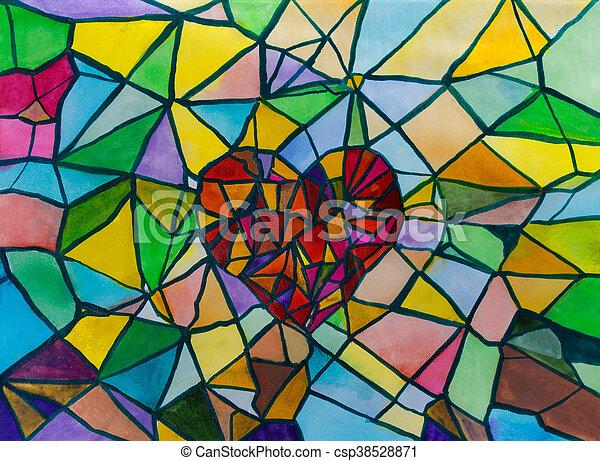 Broken Heart - csp38528871