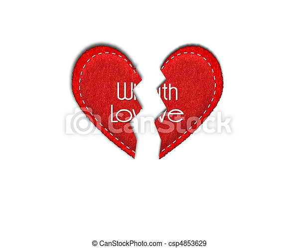broken heart - csp4853629