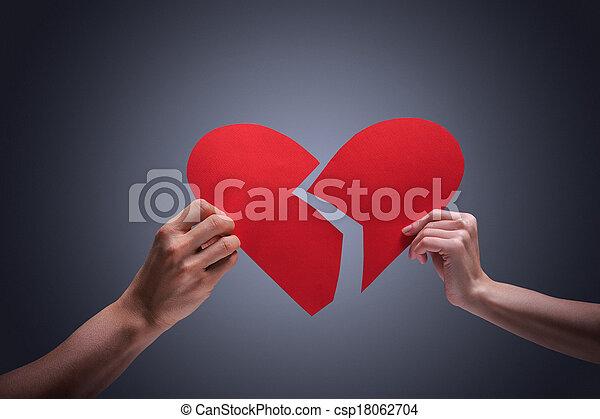 Broken heart - csp18062704