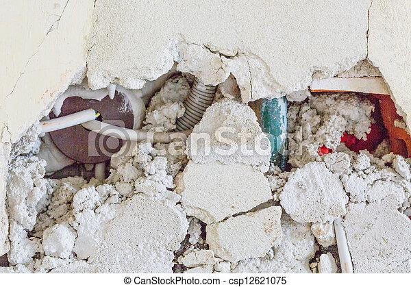 broken masonry - csp12621075