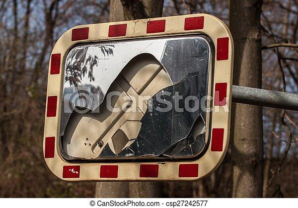 broken mirror - csp27242577