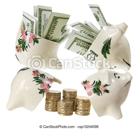 Broken Piggy Banks - csp10244098