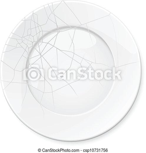 Broken Plate - csp10731756