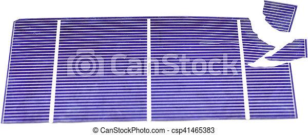 Broken Solar Cell - csp41465383