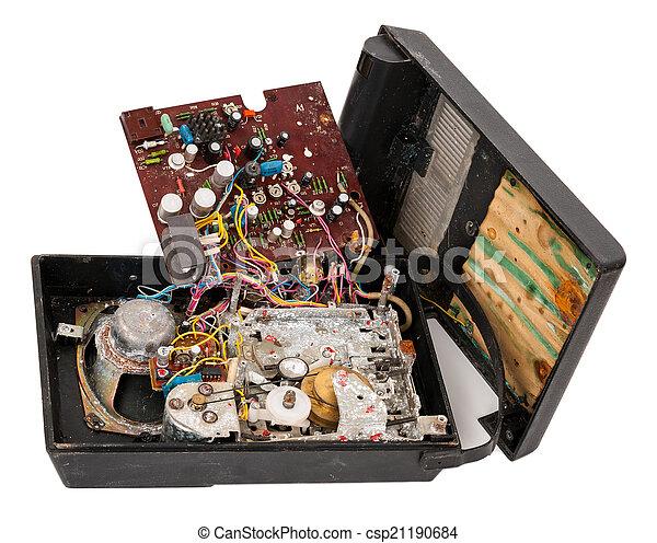 Broken tape-recorder - csp21190684