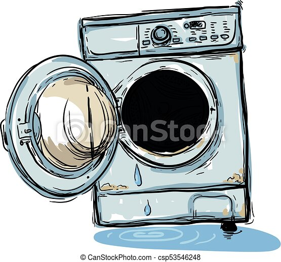 broken washing machine - csp53546248