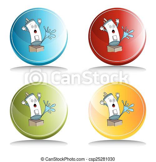 Broken Water Heater Button - csp25281030