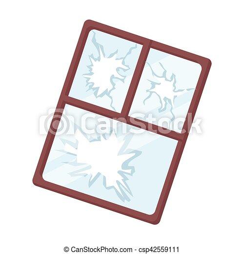 broken window icon in cartoon style isolated on white vector clip rh canstockphoto com broken window clipart broken window clipart