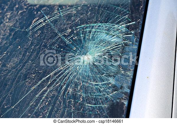 Broken Windshield - csp18146661