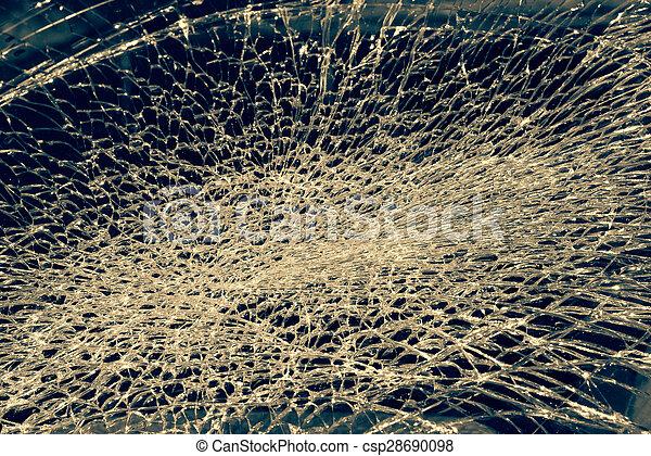 Broken Windshield - csp28690098