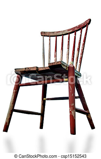 Broken Wooden Chair Stock Photo
