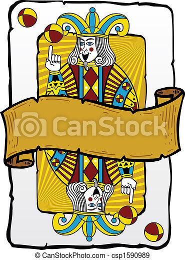 Jugando a la ilustración de un bromista - csp1590989
