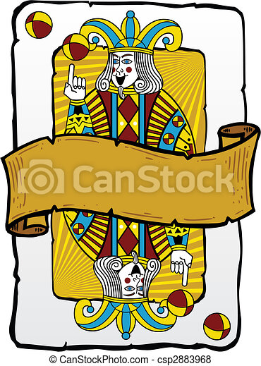 Jugando a la ilustración de un bromista - csp2883968