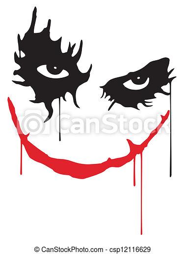 Sonrisa de Joker - csp12116629