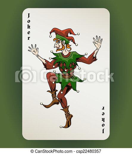 Tarjeta de Joker - csp22480357