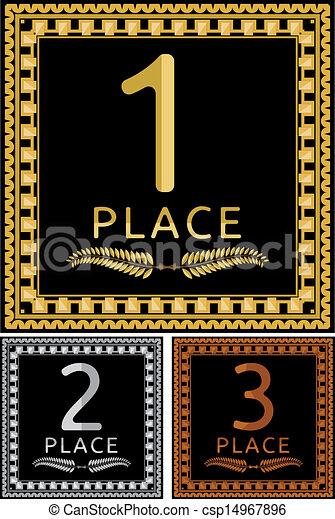 Una placa de bronce de oro - csp14967896