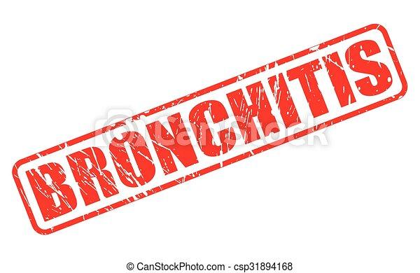 BRONCHITIS red stamp text - csp31894168
