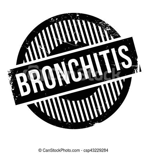 Bronchitis rubber stamp - csp43229284