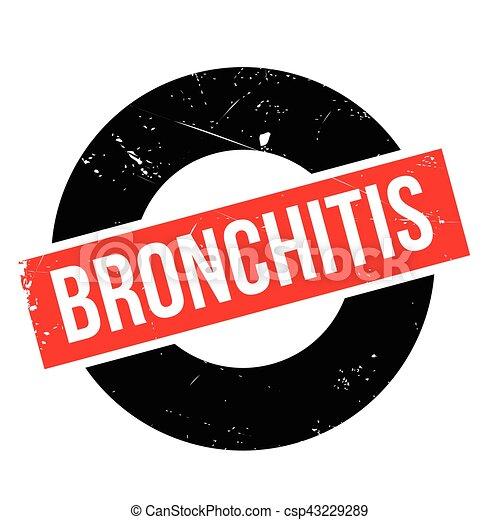 Bronchitis rubber stamp - csp43229289