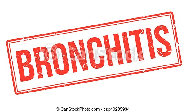 Bronchitis rubber stamp - csp40285934