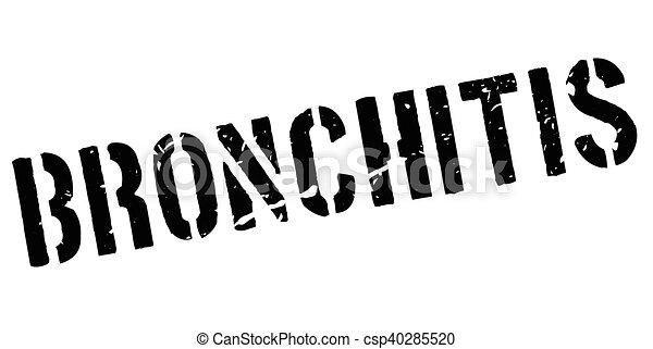 Bronchitis rubber stamp - csp40285520