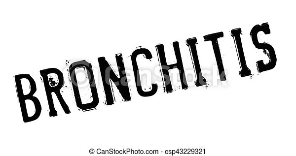 Bronchitis rubber stamp - csp43229321