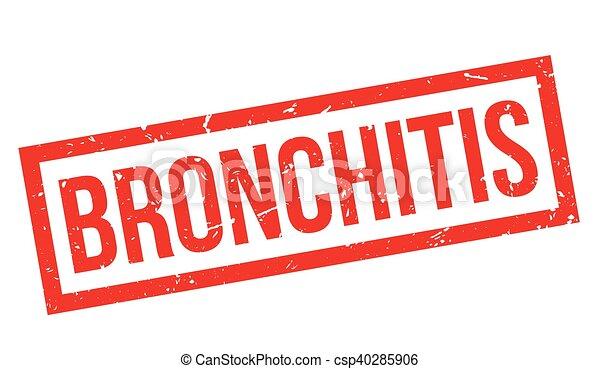 Bronchitis rubber stamp - csp40285906
