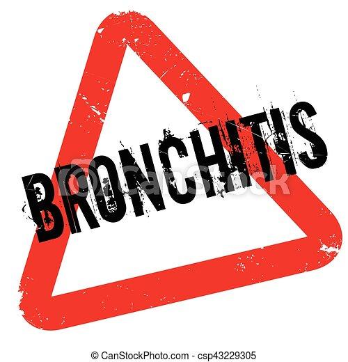 Bronchitis rubber stamp - csp43229305