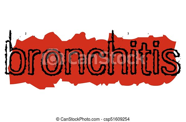 Bronchitis sticker stamp - csp51609254