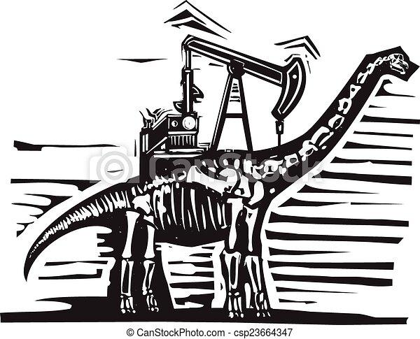 Brontosaurus Oil Well Pump - csp23664347