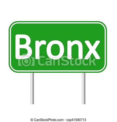 El letrero verde del Bronx. - csp41590713